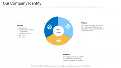 Sales Management Advisory Service Our Company Identity Ppt Show Graphic Tips PDF