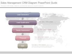 Sales Management Crm Diagram Powerpoint Guide