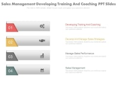 Sales Management Developing Training And Coaching Ppt Slides