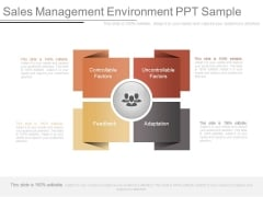 Sales Management Environment Ppt Sample