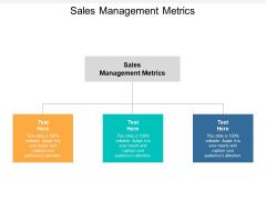 Sales Management Metrics Ppt PowerPoint Presentation Summary Icon Cpb