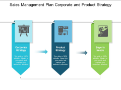 Sales Management Plan Corporate And Product Strategy Ppt Powerpoint Presentation Icon Vector