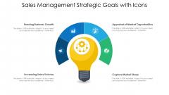 Sales Management Strategic Goals With Icons Ppt Model Smartart PDF