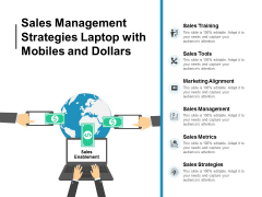 Sales Management Strategies Laptop With Mobiles And Dollars Ppt Powerpoint Presentation Inspiration Design Inspiration