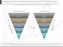 Sales Management Vs Marketing Management Sample Ppt Powerpoint Ideas