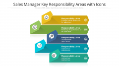 Sales Manager Key Responsibility Areas With Icons Ppt PowerPoint Presentation Icon Show PDF