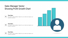 Sales Manager Vector Showing Profit Growth Chart Ppt Portfolio Inspiration PDF