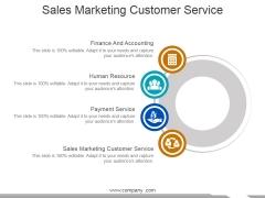 Sales Marketing Customer Service Ppt PowerPoint Presentation Slides Tips