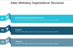 Sales Marketing Organizational Structures Ppt PowerPoint Presentation Ideas Model Cpb