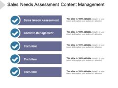 Sales Needs Assessment Content Management Ppt PowerPoint Presentation File Show