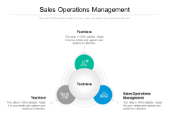 Sales Operations Management Ppt PowerPoint Presentation Summary Vector Cpb
