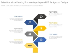 Sales Operations Planning Process Steps Diagram Ppt Background Designs
