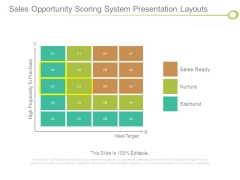 Sales Opportunity Scoring System Presentation Layouts