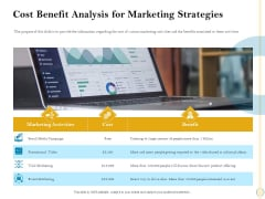 Sales Optimization Best Practices To Close More Deals Cost Benefit Analysis For Marketing Strategies Ideas PDF