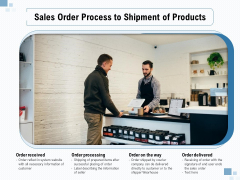 Sales Order Process To Shipment Of Products Ppt PowerPoint Presentation File Visual Aids PDF