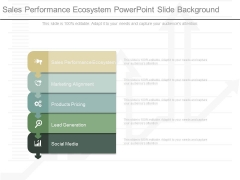 Sales Performance Ecosystem Powerpoint Slide Background
