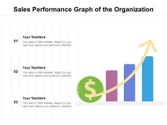 Sales Performance Graph Of The Organization Ppt PowerPoint Presentation Gallery Slide Portrait PDF