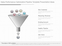 Sales Performance Optimization Pipeline Template Presentation Ideas