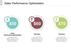 Sales Performance Optimization Ppt PowerPoint Presentation Slides Graphics Cpb