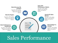 Sales Performance Ppt PowerPoint Presentation Portfolio Show