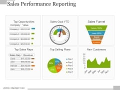 Sales Performance Reporting Ppt PowerPoint Presentation Outline Diagrams
