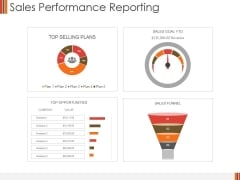 Sales Performance Reporting Ppt PowerPoint Presentation Slides Background Designs