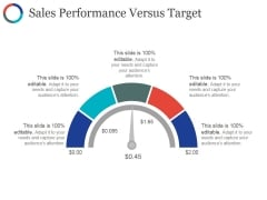 Sales Performance Versus Target Ppt PowerPoint Presentation File Vector