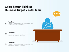 Sales Person Thinking Business Target Vector Icon Ppt PowerPoint Presentation Tips PDF