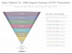 Sales Pipeline For Crm Diagram Example Of Ppt Presentation