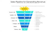 Sales Pipeline For Generating Revenue Ppt PowerPoint Presentation Icon Portfolio PDF