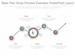 Sales Plan Study Process Examples Powerpoint Layout