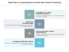 Sales Plan To Guide Business Growth With Product Positioning Ppt PowerPoint Presentation Icon Master Slide