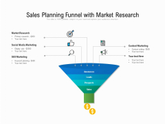 Sales Planning Funnel With Market Research Ppt PowerPoint Presentation File Clipart PDF