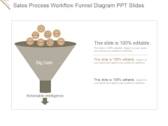 Sales Process Workflow Funnel Diagram Ppt PowerPoint Presentation Microsoft