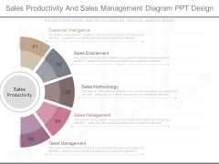 Sales Productivity And Sales Management Diagram Ppt Design