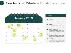 Sales Promotion Calendar Monthly Business Ppt PowerPoint Presentation Pictures Graphics Download