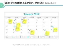 Sales Promotion Calendar Monthly Option Marketing Ppt PowerPoint Presentation Gallery Designs Download