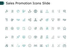 Sales Promotion Icons Slide Marketing Ppt PowerPoint Presentation Slides Master Slide