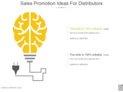 Sales Promotion Ideas For Distributors Ppt PowerPoint Presentation Gallery