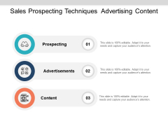 Sales Prospecting Techniques Advertising Content Ppt PowerPoint Presentation Professional Summary