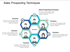 Sales Prospecting Techniques Ppt PowerPoint Presentation Infographic Template File Formats Cpb
