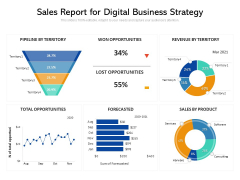Sales Report For Digital Business Strategy Ppt PowerPoint Presentation Icon Model PDF