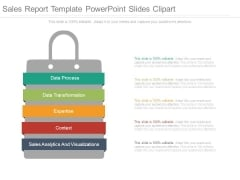 Sales Report Template Powerpoint Slides Clipart