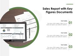 Sales Report With Key Figures Documents Ppt PowerPoint Presentation Portfolio Model PDF