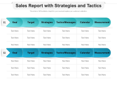 Sales Report With Strategies And Tactics Ppt PowerPoint Presentation Ideas Graphic Images