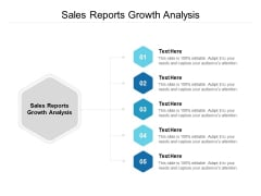 Sales Reports Growth Analysis Ppt PowerPoint Presentation Visual Aids Icon Cpb