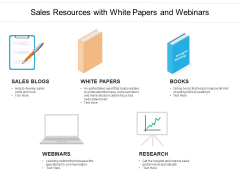 Sales Resources With White Papers And Webinars Ppt PowerPoint Presentation Gallery Background Images PDF