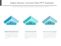 Sales Service Connect Sell Ppt Example