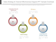 Sales Strategy And Channel Effectiveness Diagram Ppt Sample Download