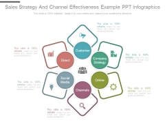 Sales Strategy And Channel Effectiveness Example Ppt Infographics
